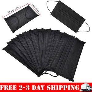 Black medical mask - fashion kpop mask -10 pack